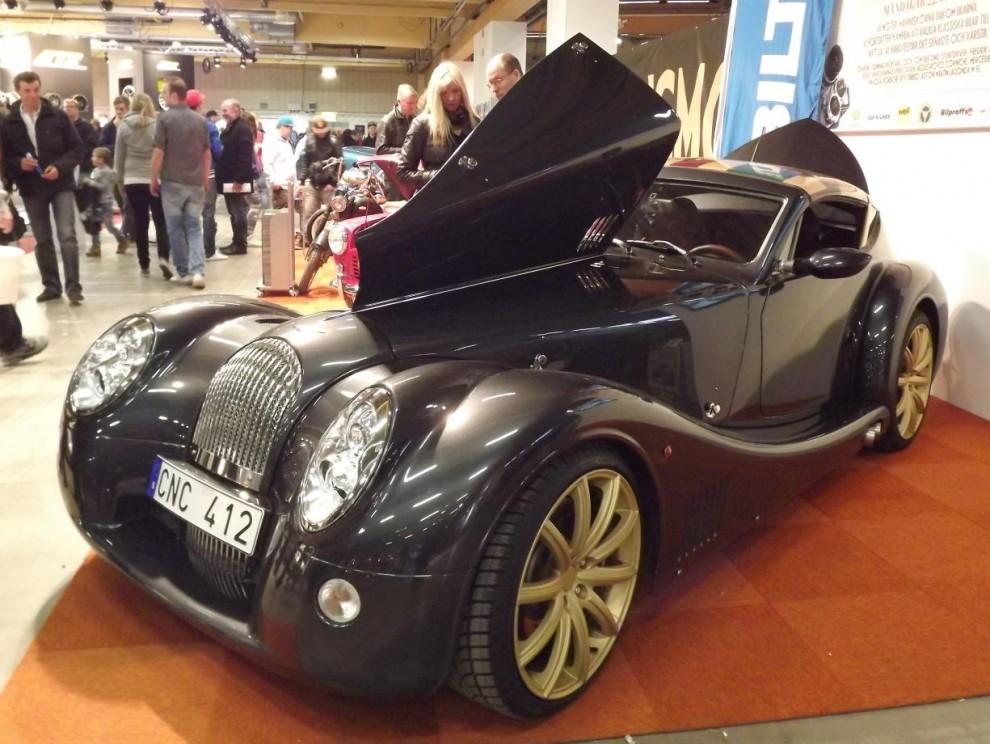 även en hel del sprillans nytt visas upp, Morgan Aero 8 coupe.