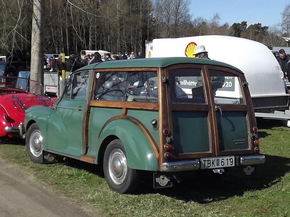 Morris Minor 1968, dessa Travellers med trästommen fortsatte byggas fram till 1971