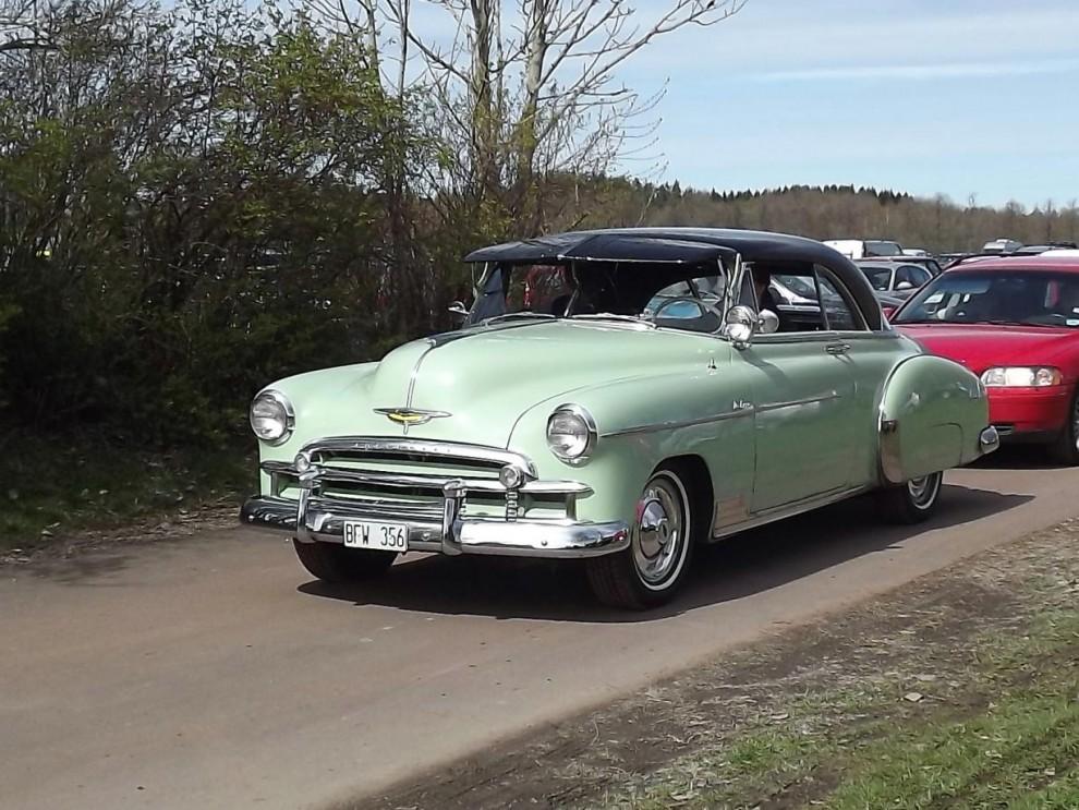 Chervolet Styleline De Luxe fick tillnamnet Bel Air när den kom som hardtop coupé, denna från 1950.