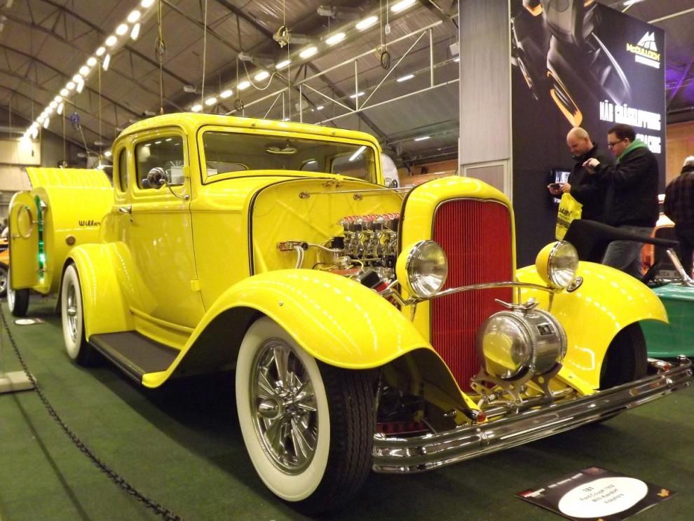 Custom Motor show handlar ju alltså om mycket custom också, och hot rods, något vi är bra på i Sverige. 1932 Ford är den överlägset mest populära utgångspunkten för en lyckad rod.