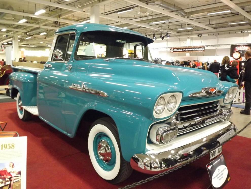 flott arbetshäst, inte så ofta man ser en sån här Chevrolet Apache från 1958 i detta blänkande skick.