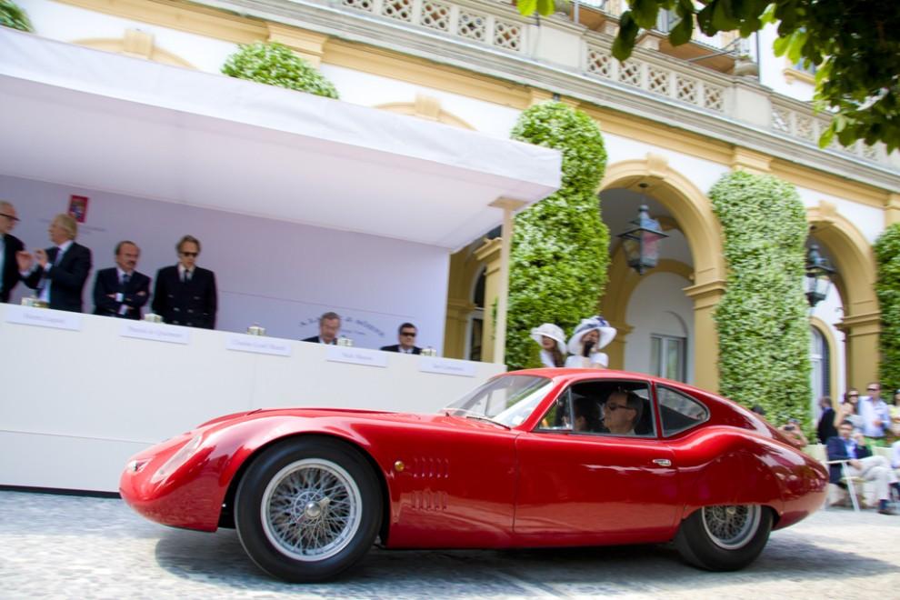 "O.S.C.A.-Fratelli Maserati 1600 SP 1963 gnistrade fint i klassen ""Little Jewels""."