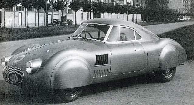 Aerodinamica, strömlinjeexperiment från Pininfarina med arbetsnamnet PF602, 1937