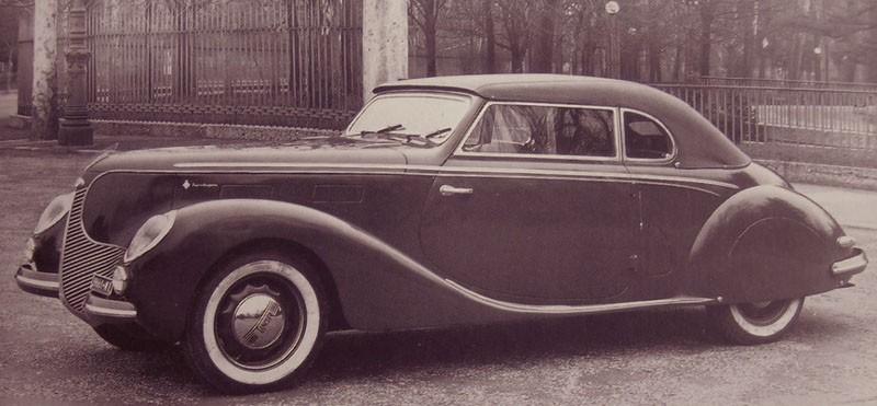 USA-influerad cabriolet från Carozzeria Touring 1938