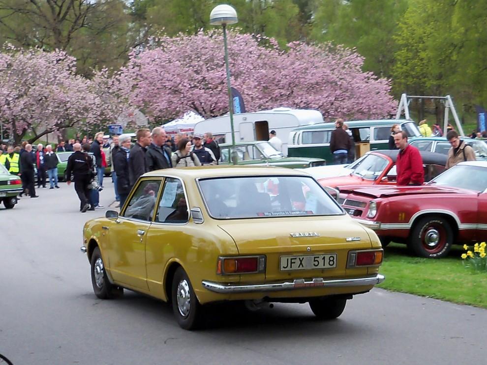 Smått och gott som rullar in, lilla toyota Corolla blev japans stora insteg på den europeiska marknaden vid 70-talets början