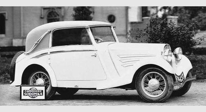 Aero 1000 Minor cabrio med Sodomkakaross, Tjekoslovakien 1933