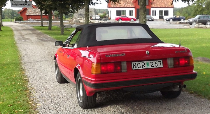 Bengt Jödahl med Maserati Biturbo Spider anlände i god tid.