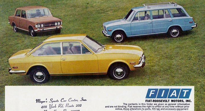 Fiats broschyr 1971 för USA