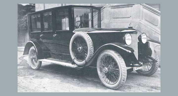 En pampig limousinekaross på Austro-Daimer 1921. Daimlers i Österrike byggdes fram till 1936.