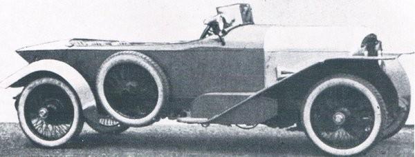 Fafnir gjordes i Aachen åren 1908-1926, denna 8-50PS med touringkaross från Autenrieth.