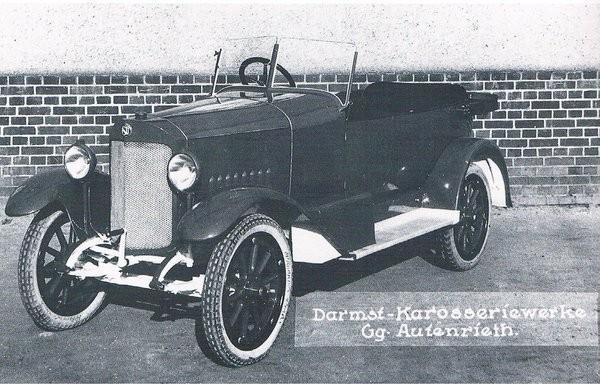 Åt NSU byggde man många karosser på 1920-talet, den här från 1923.
