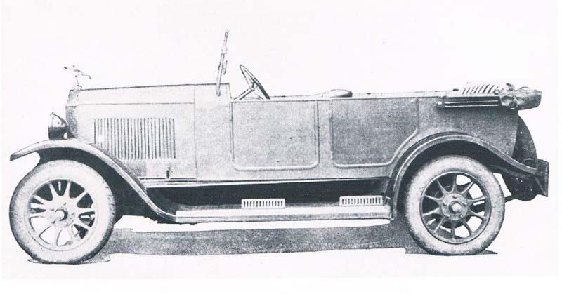 HAG var ett annat av de kortlivade 20-talarna, byggdes i Darmstadt 1922-25 och fick karosser från Autenrieth