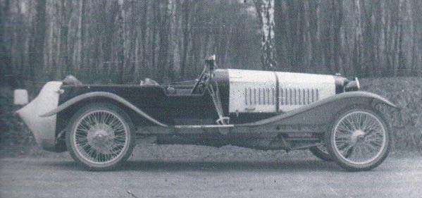 en tuff NSU med sportkaross 1925.