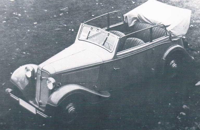 En adler Trumph fyrfönsterscabriolet gjordes dock bara i ettexemplar 1935.