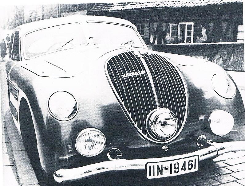 En ännu mer extrem Maybach byggdes också, med säregen front, släta karossidor och ryggfena på Tatravis över taket.
