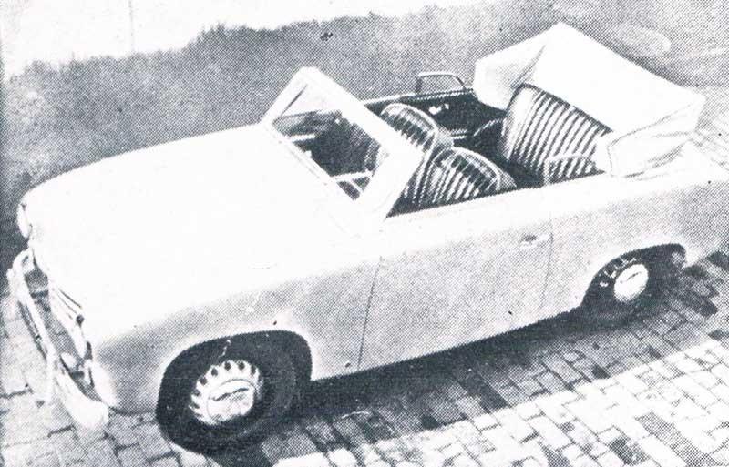 Cabrioletprototyp på Goliath GP700 1951.