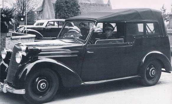 En serie specialkarosser för militärpolisen byggdes på Mercedes 170V under 1953.