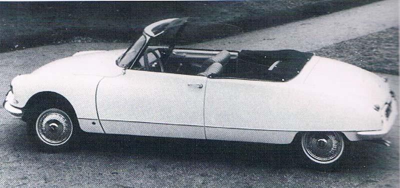 1957 gjorde man också cabriolet av den avancerade Citroen DS i tre exeemplar.