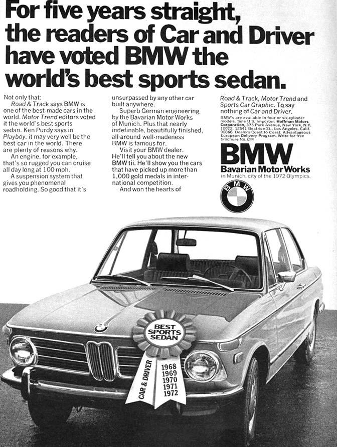 framröstad till bästa Sports sedan fem år i rad, Hoffman motors som var BMW-importör var stolta.