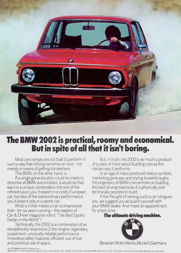 1975 sjöng 2002 på sista versen, samma pår kom snikvarianten 1502 med en mindre motor på 75 hästar och det var den enda 02 som fanns kvar unde de sista två åren.
