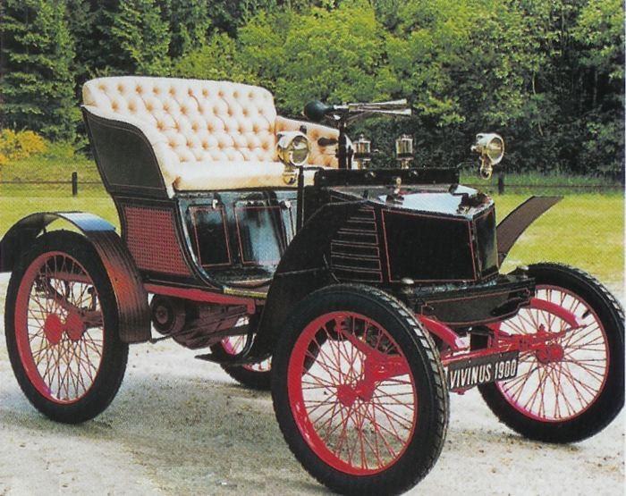 och så en bil från år 1900, en belgisk Vivinius