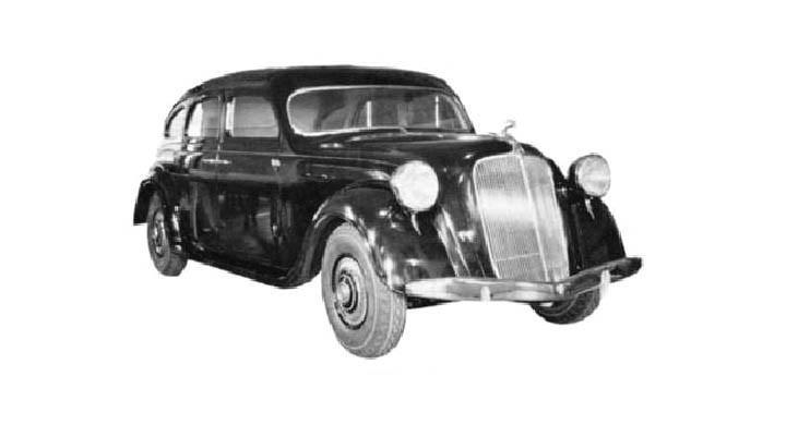 Trettiotalet var art decon och aerodynamikens decennium. Chrysler och De Soto introducerade Airflow 1934. Här är en av de många stilstudierna.