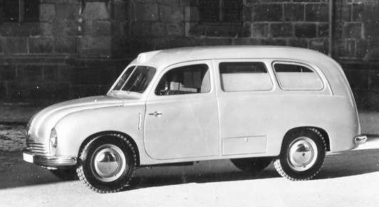 Ambulanskarosseri på Tatra T201 1947
