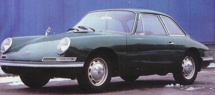 1961 byggde Porsche den här prototypen för det började bli dags att ersätta den nu föråldrade 356:an, Porsche 965 hette den och skulle vara en fyrsitsig GT vagn med motorn bak. Fronten behölls, bakdelen modifierades till det bättre och några år senare hade Porsche 901 premiär. Fast den fick ju som bekant rätt omgående byta namn till 911.
