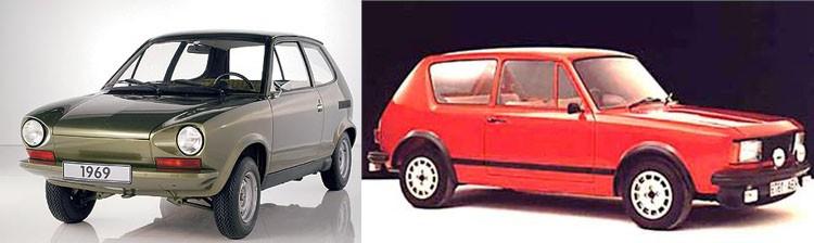 Volkswagen har alltid haft stora resurser i sin experimentavdelning, väldigt många av deras alster har dock hamnat antingen i papperskorgen eller direkt in på deras eget museum. Där står bland annat dessa två skapelser som kallas för EA266 och EA276 som båda togs fram under 1969 som förslga till en modern sub-compact. Japanerna var på intågande med små billiga bilar och det gällde att möta konkurrensen fort. Av dessa två var för sig blev det inget av men tillsammans kan man se att detta till slut kom attt bli Volkswagen Golf