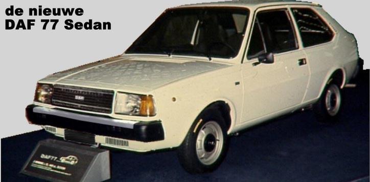 1975 hade Daf fått klart sin nya moderna modell 77 för premiärvisning. Men sen sågs 77-an aldrig mer för Volvo köpte upp Daf och denna kom då istället året efter heta Volvo 343.