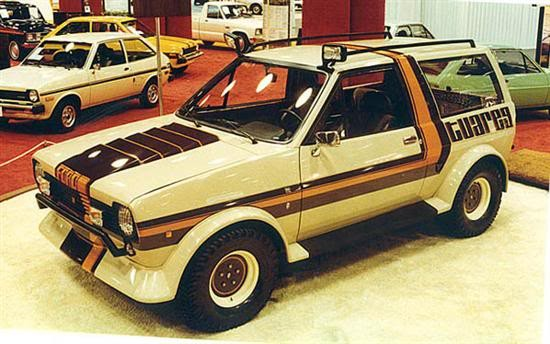 Conceptbilar på fiesta dök upp också, tuffa Tuareg från Ghia 1978