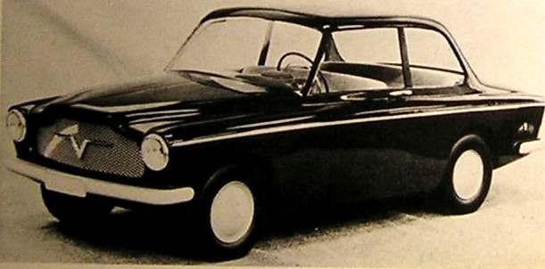Denna modell är desto mer intressant, den är från 1955, men skulle lika gärna varit från 70-talet, fascinerande vad som blivit om den hade fått klartecken.