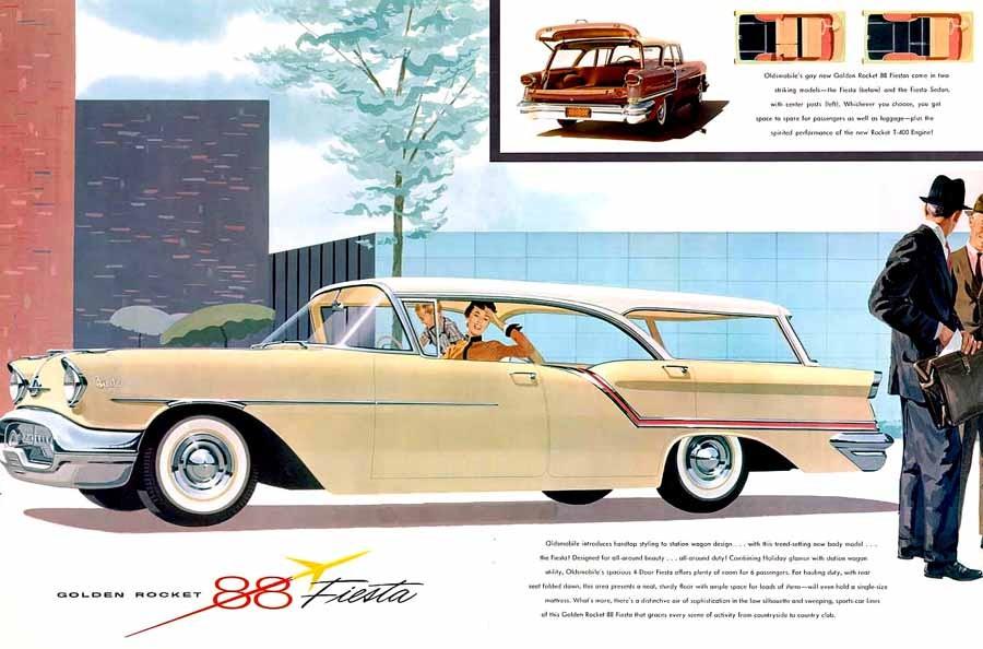 Senare under femtiotalet använde Oldsmobile Fiestanamnet för sina stationsvagnar.