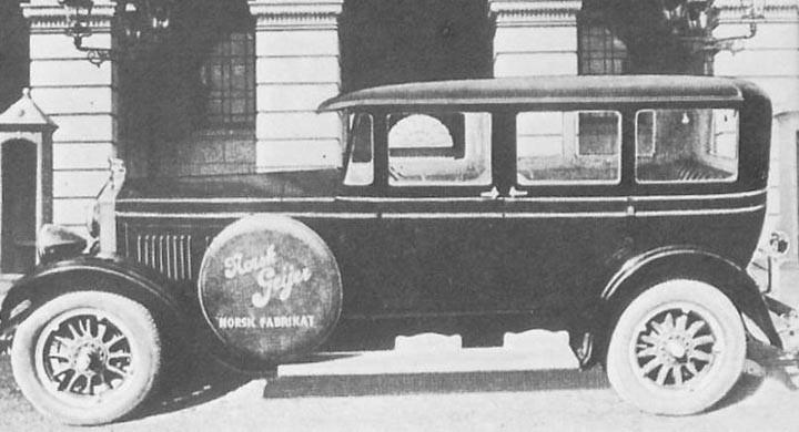 Geijer byggde från början busskarosser, men åren 1926-30 byggde dom ett 20-tal personbilar med namnet Norsk Geijer. De största hade rak åtta från Lycoming men även fyrcylindriga alternativ fanns.