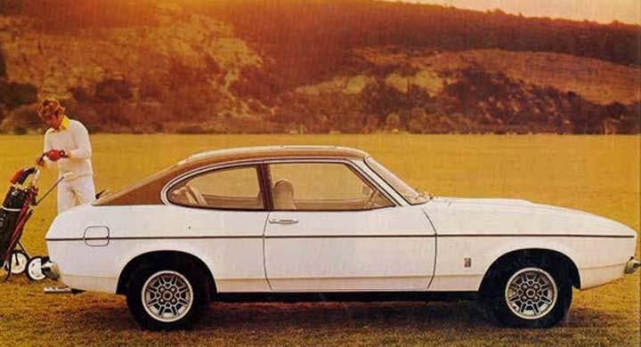 Sportigt för golfklubborna, Ford capri 1976