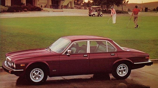 Jaguar XJ6 självklart val på klubben 1985.