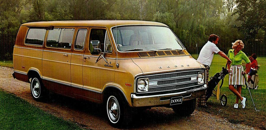 Mycket rymlig golfbil, Dodge D-100 Sportsman 1976