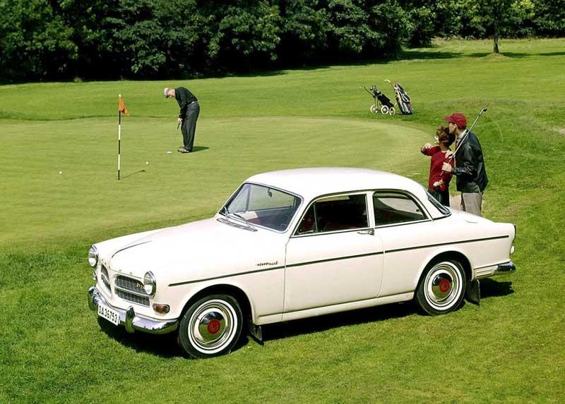Golf var långt ifrån någon folksport i Sverige 1963, men Amazon kunde knappast kallas folkbil heller.