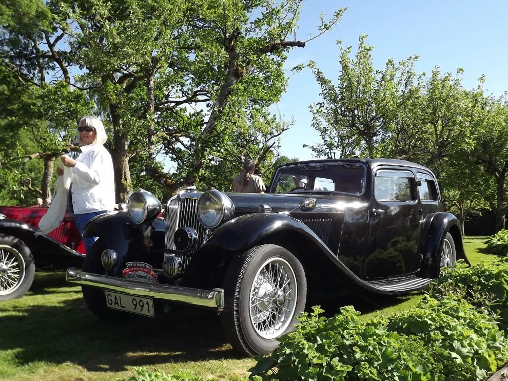 En Jaguar fast ändå inte, 1936 hette dom fortfarande SS, Swallow Sidecar och byggde läckra lågbyggda sportbilar