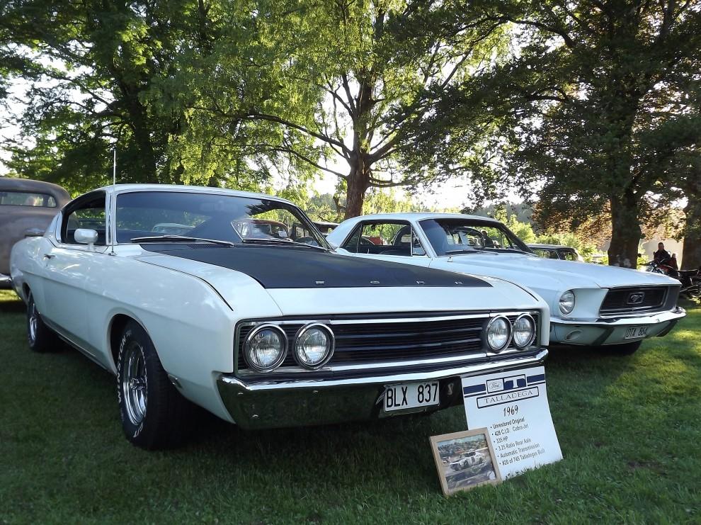Ovanliga muskler, Ford Talladega var en specialmodell baserad på Torino som fått en del aerodynamikjobb.  För framdrivningen stod en maffig 428 Cobra Jet V8. Bara 754 stycken byggdes och kostade 3680 dollar, styvt 800 mer än en standard Torino fastback.