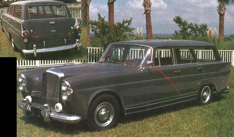 Det ser ut som en förvuxen Mercedes, men är faktiskt en Bentley. Schweiziska Wendler verkar haft en Mercedes eller två över för att skapa denna kreation, som även har lite inslag från Ford med mera. I botten en S2 Continental från 1960.