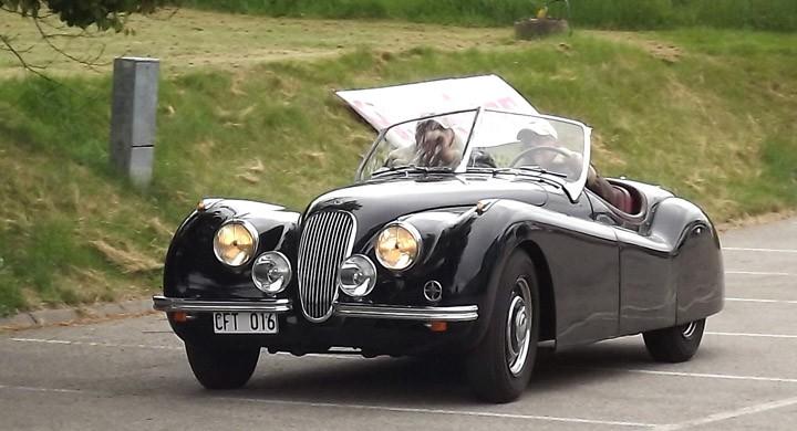 Svängens vackraste ekipage, Sten Tellanders Jaguar XK120 från 1950, svensksåld