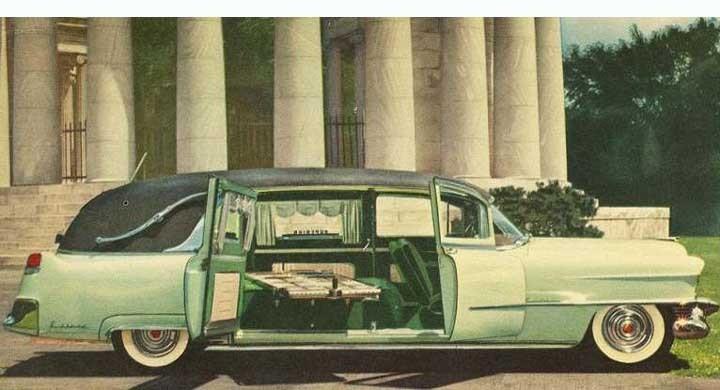 Cadillac tillhandahöll länge separata chassin för just Commericial use, detta ver ett förlängt fleetwood-chassi som betecknades series 86, flera tusen levererades årligen till diverse firmor för att bli begravningsbilar, ambulanser, limousiner och liknande. Från Superior 1954, påkostad kaross med sidlastad katafalk. Detta år levererade Cadillac 1635 series 86 Commerical chassin.