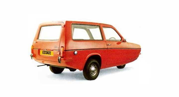 Den lilla lustiga trehjulingen Reliant Robin fanns som även som estate