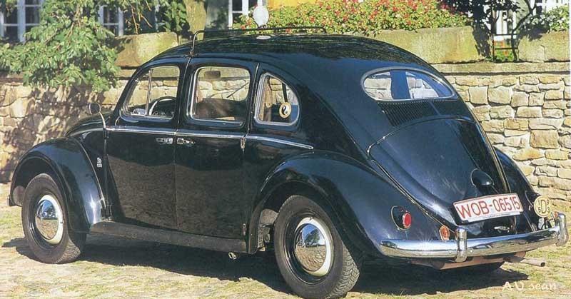 Volkswagenbubbla med fyra dörrar? Ja, det byggdes ett antal sådana av Rometsch, främst för taxibruk.