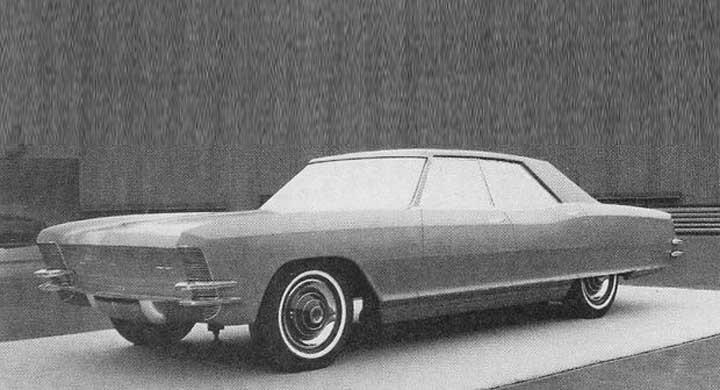 Buick Riviera som hardtop sedan stannade blott på modellstadiet, men vilken häftig bil detta skulle blivit.