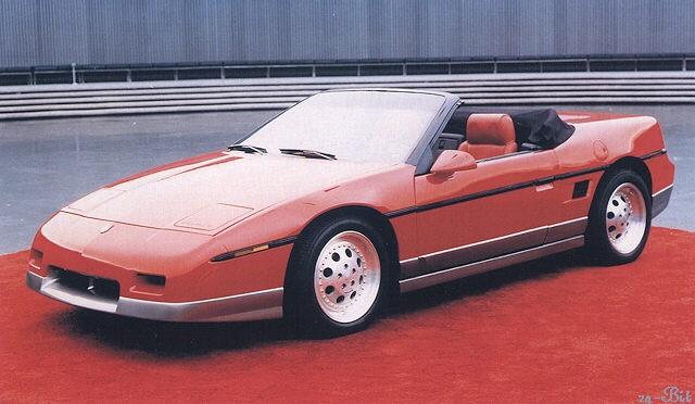 Pontiac Fiero som cab gjordes i ett par exemplar på prov men kom inte längre än så.
