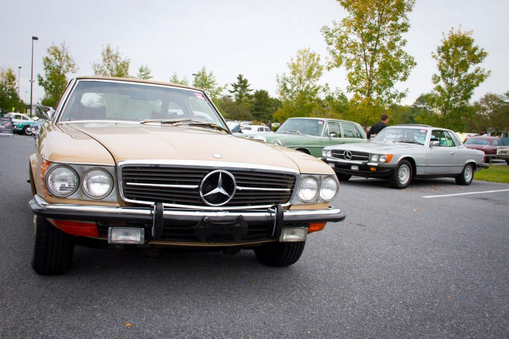 Mercor på Hersey, SL-serien även kallad Dallasmoppe blev populär i Amerika, fenmercan i bakgrunden är desto ovanligare.