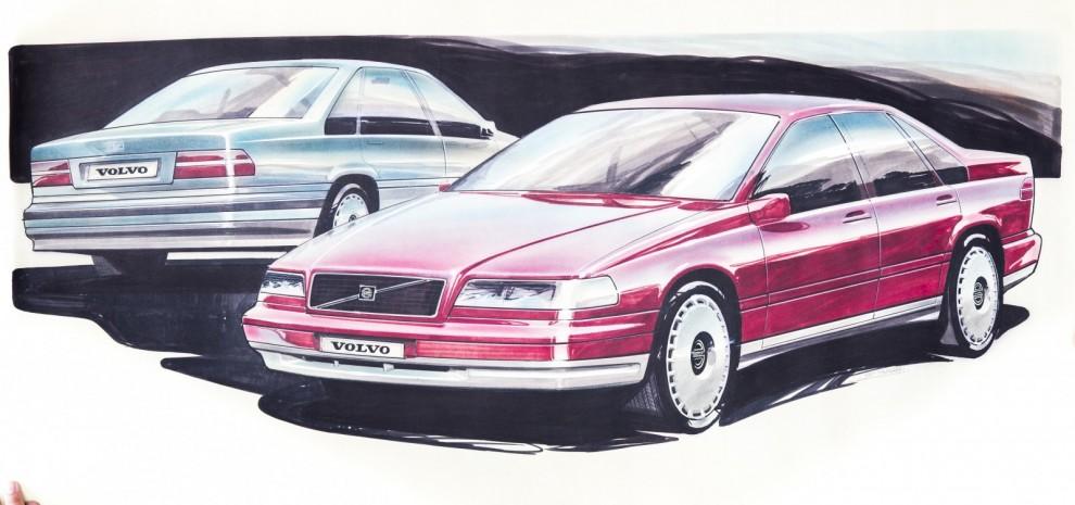 Designskisser på Volvo 850