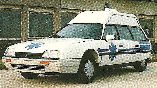Patientkomfort, Quasar ambulans på Citroen CX från Heuliez